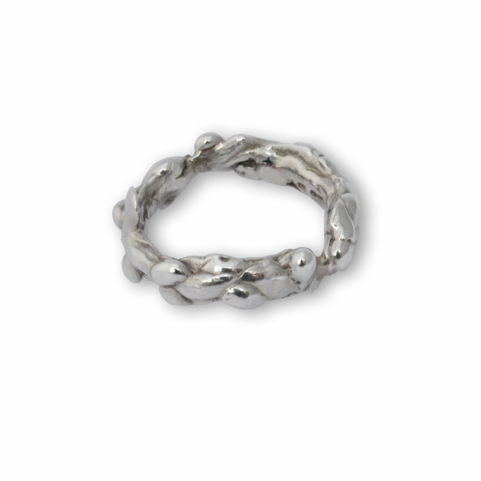 Sterling Silver Molten Ring