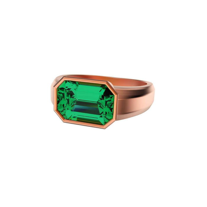 Emerald Rose Gold Ring