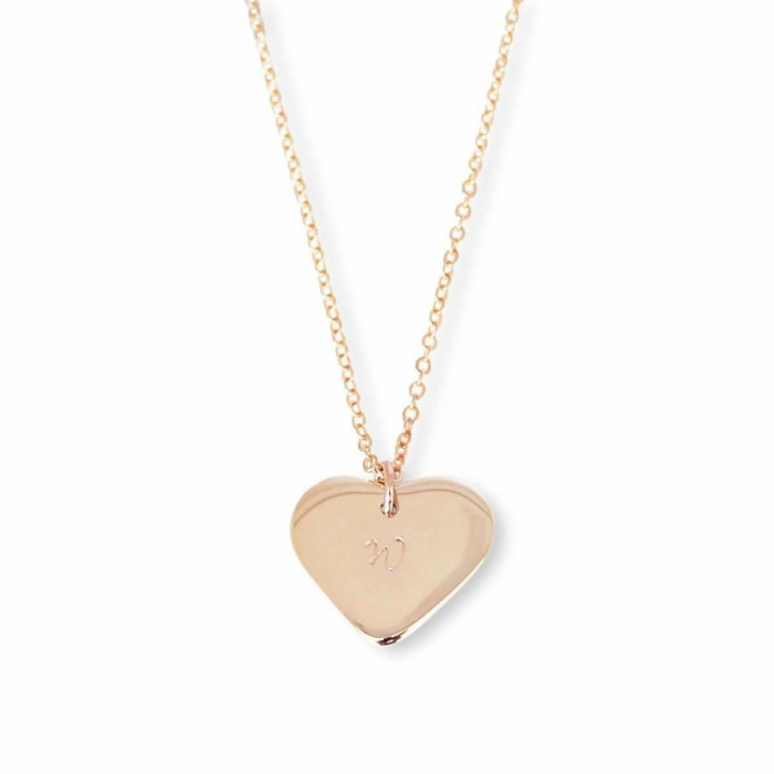 9kt Rose Gold Personalised Love Heart Necklace