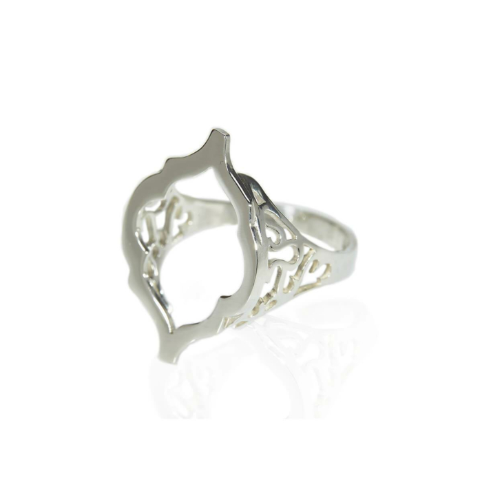 Sterling Silver Arch Hollow Ring