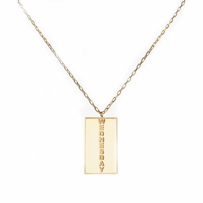 24kt Yellow Gold Celestial Days Odin's Day Necklace