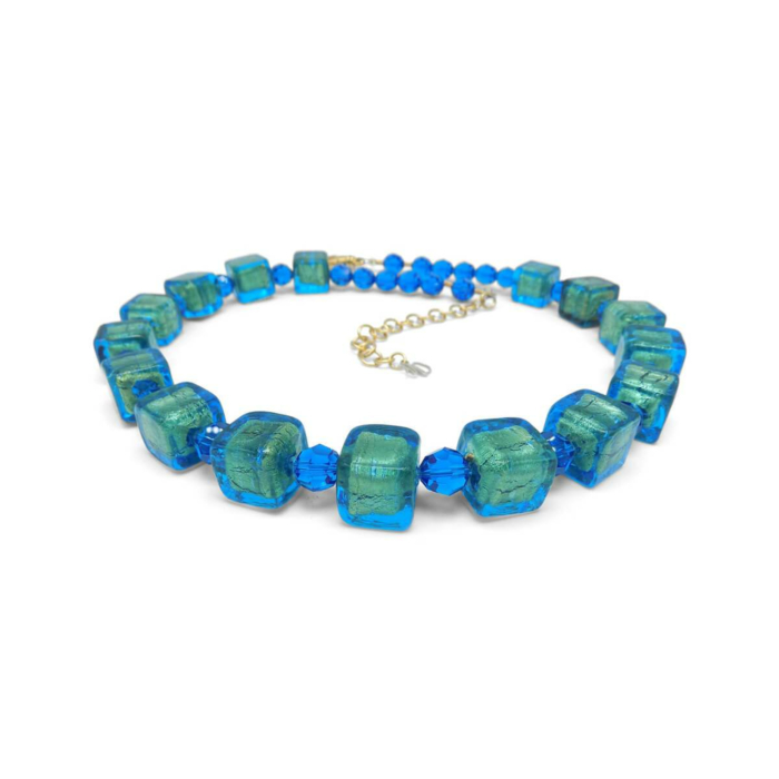 Murano Glass Bead Tropic Passion Necklace
