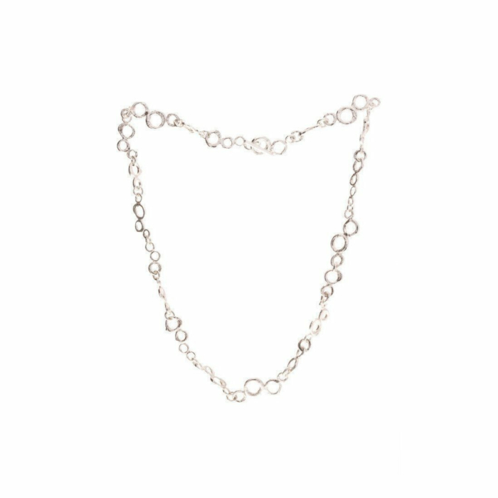 Sterling Silver Bubble Link Necklace