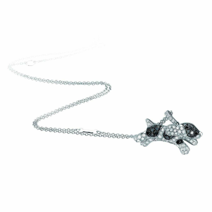 White Gold & Diamond Pet Jewels Collection Dog Necklace | Pinomanna