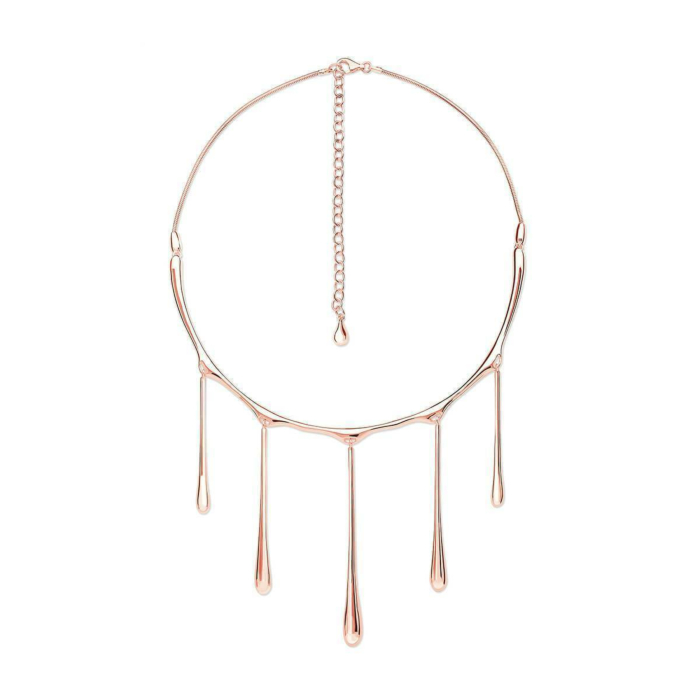5 Drop Necklace Rose Gold Plated