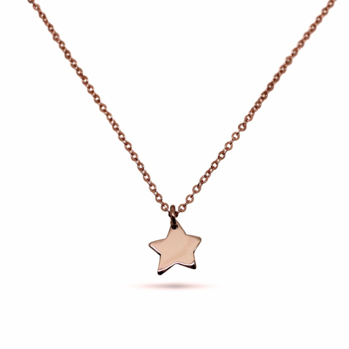 9kt Rose Gold Little Star Necklace