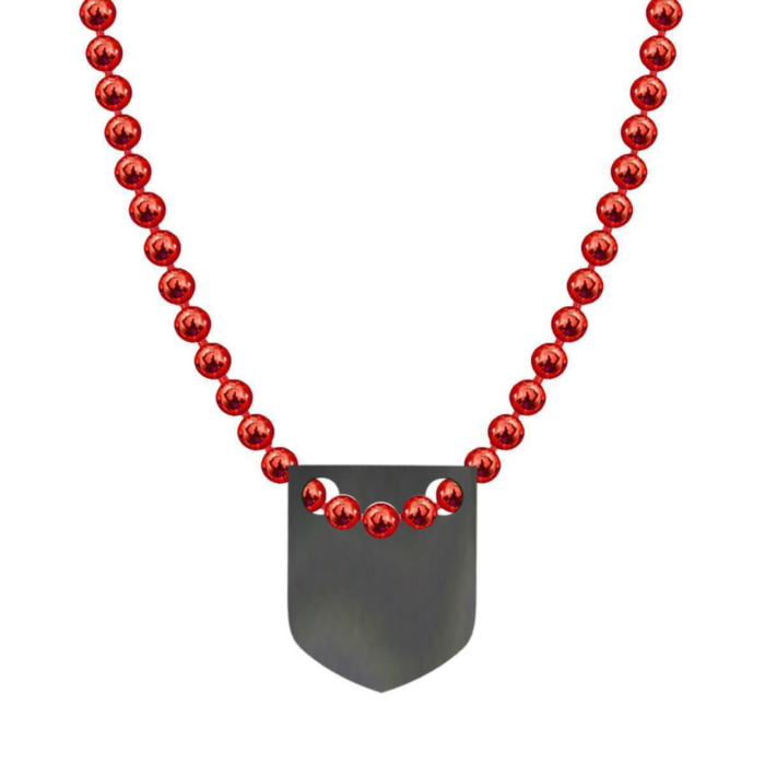 Made In Britain Necklace - Black Rhodium Plated Classic Shield