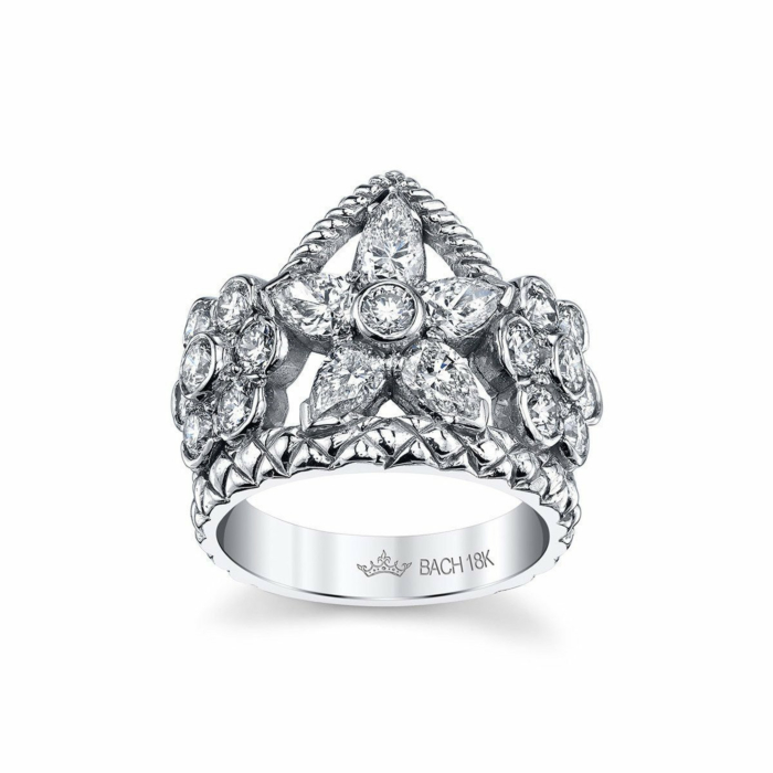 Flower Crown Ring With Diamonds
