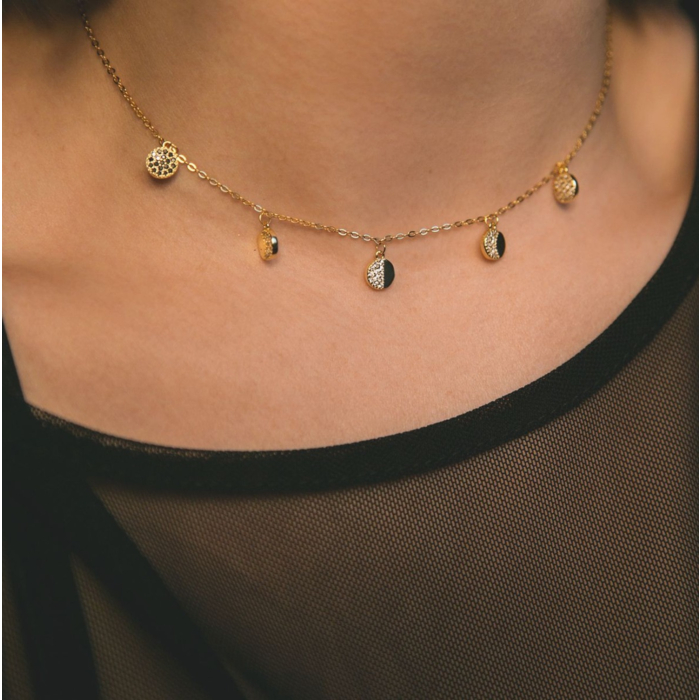 14kt Gold Plated Lulu Moon Phase Necklace