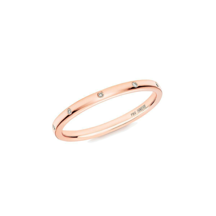 18kt Rose Gold 10 Stone XV Diamond Ring