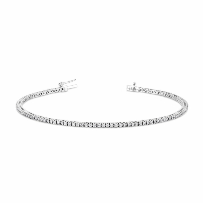 18kt White Gold Diamond Line Bracelet