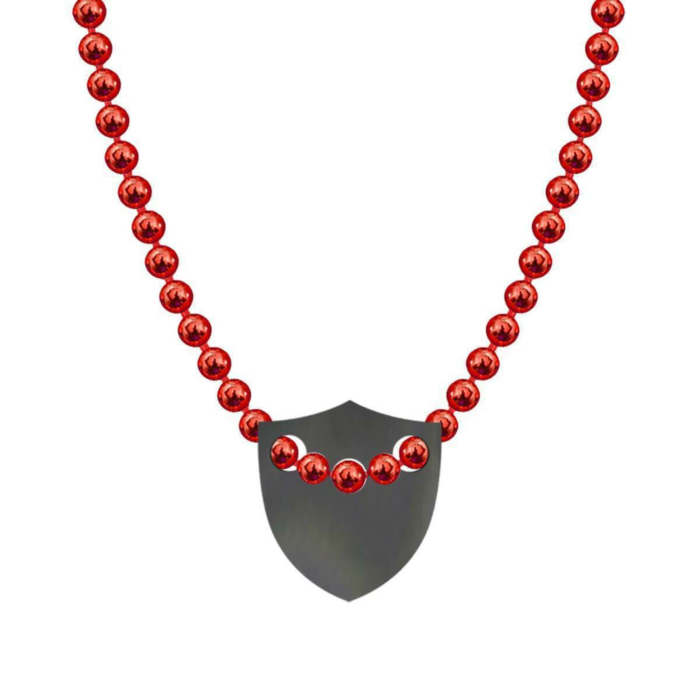 Made In Britain Necklace - Black Rhodium Plated Edged Shield