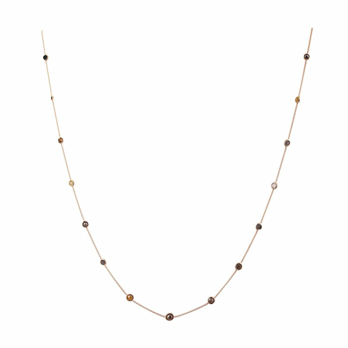 18kt Gold Organic Color Diamond Necklace