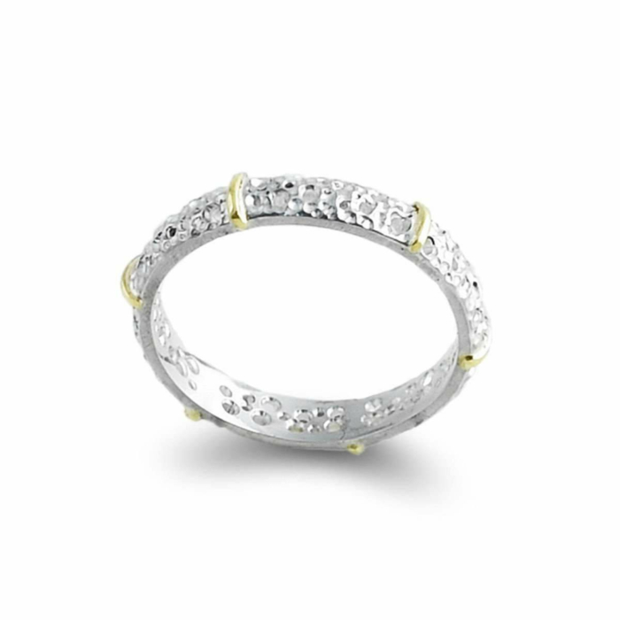 Sterling Silver & 14kt Gold Classical Ring
