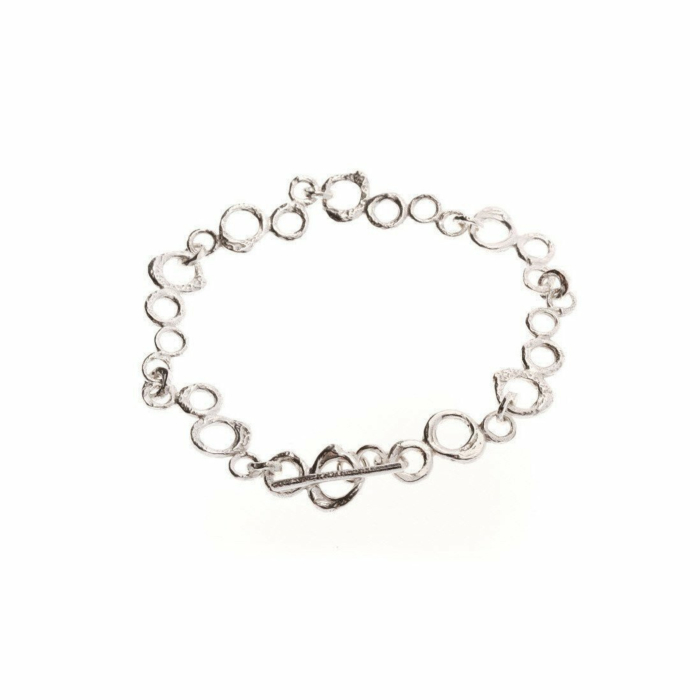 Sterling Silver Bubble Link Bracelet