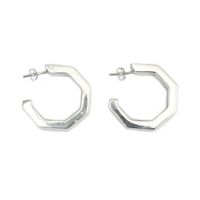 Sterling Silver MARINA Large Hoops