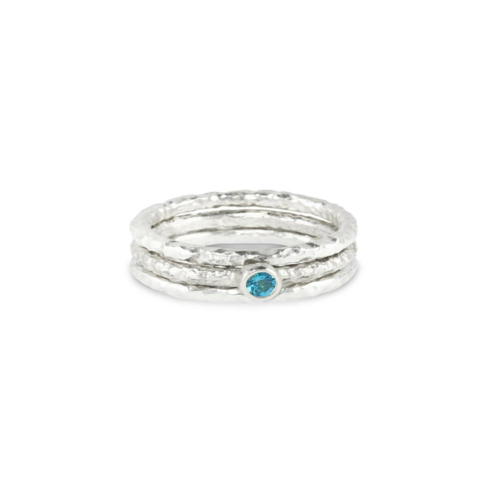 Sterling Silver & Topaz Tribus Ring | Paul Magen