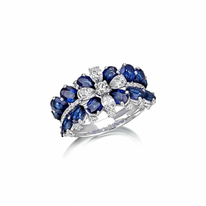 White Gold & Sapphire Royal Collection Band | Pinomanna