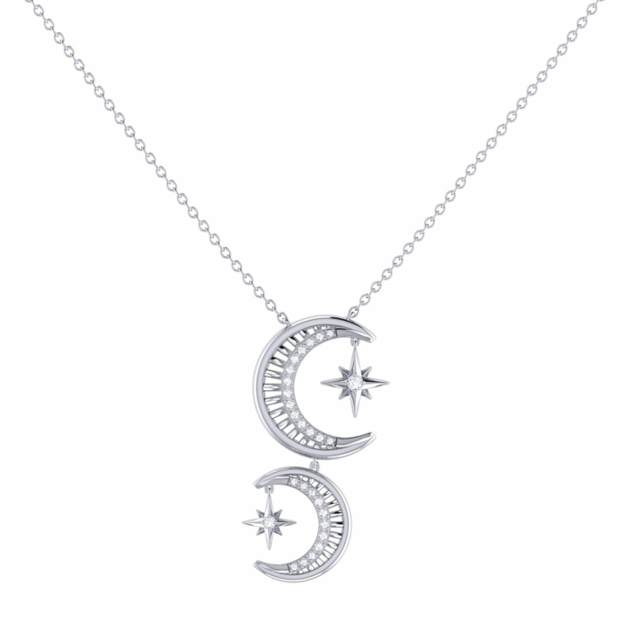 Sterling Silver Twin Nights Necklace