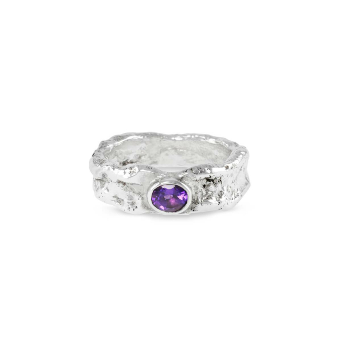 Sterling Silver & Amethyst Vero Ring | Paul Magen