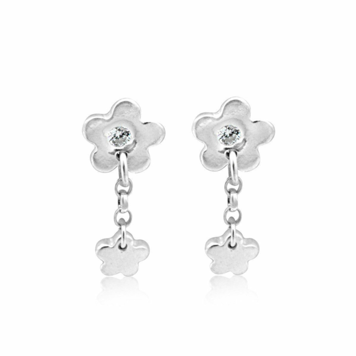 Sterling Silver & Cubic Zirconia Fiore Blossom Earrings