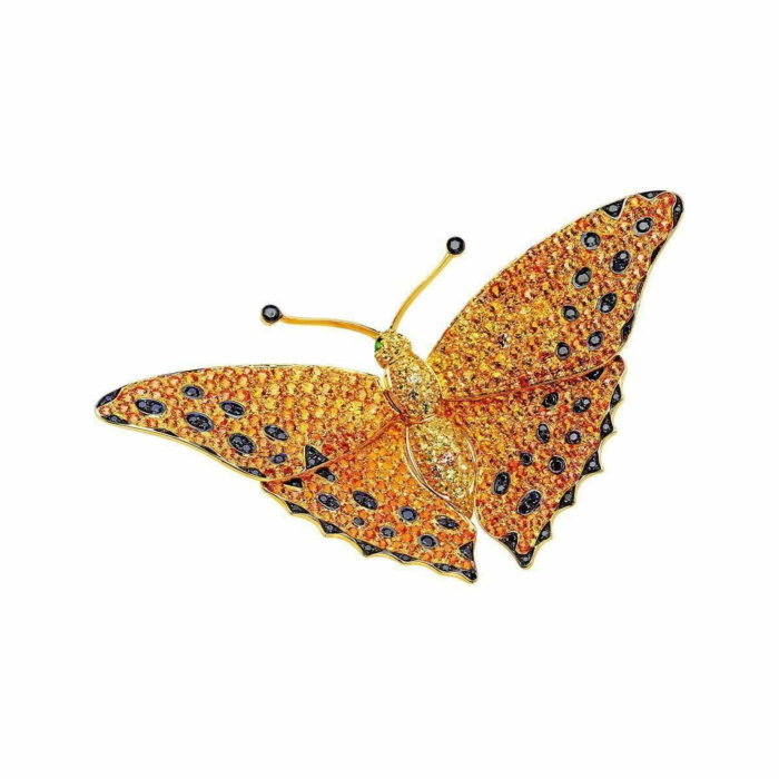 Gold & Diamond Natural Chic Butterfly Necklace | Pinomanna