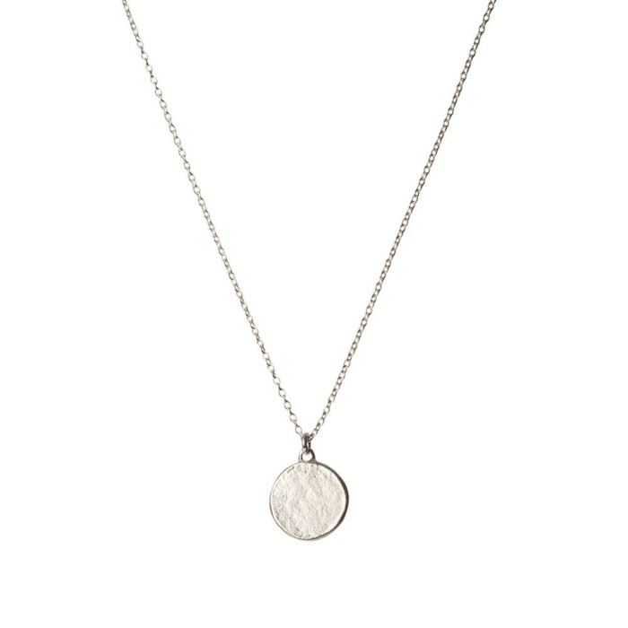 Sterling Silver Disc Necklace Small
