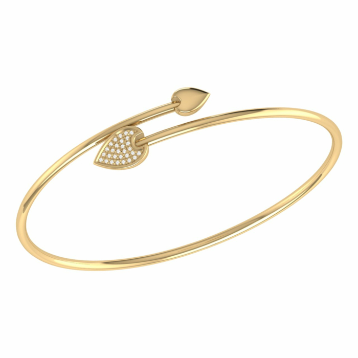 14kt Yellow Gold Plated Raindrop Bangle