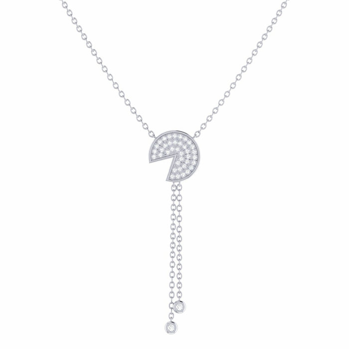 Sterling Silver Pac-Man Candy Lariat Necklace