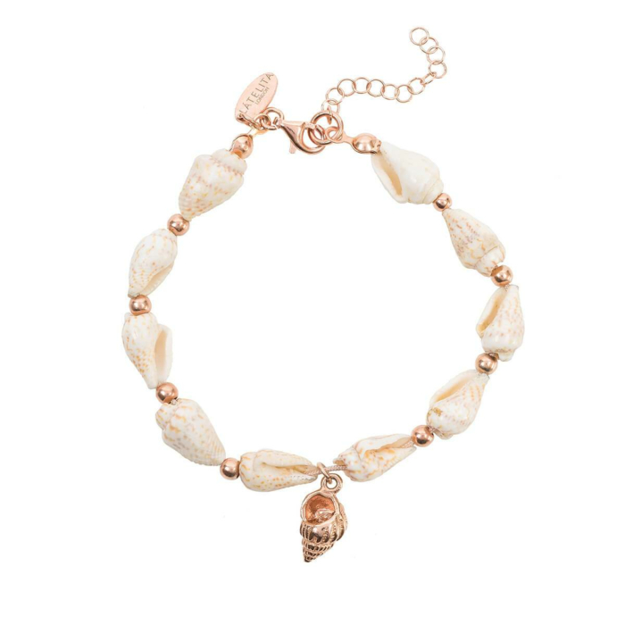Rose Gold Plated Spiral Shell Bracelet