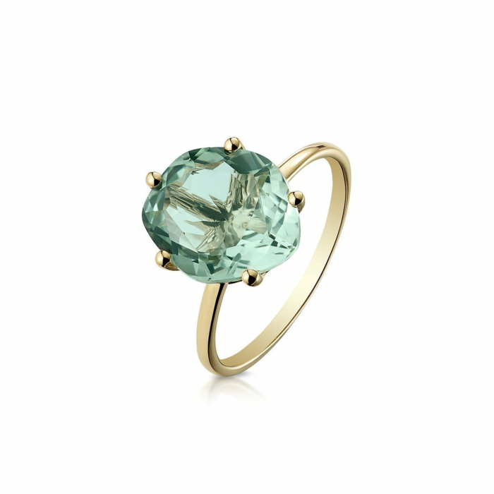 14kt Yellow Gold & Green Amethyst Majestic Galina Ring