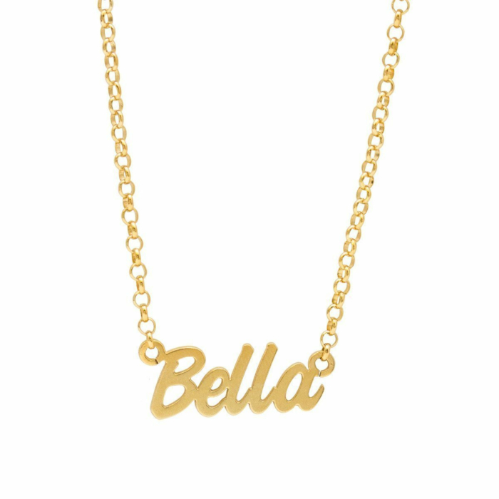 Personalised Name Necklace Yellow Gold Plated