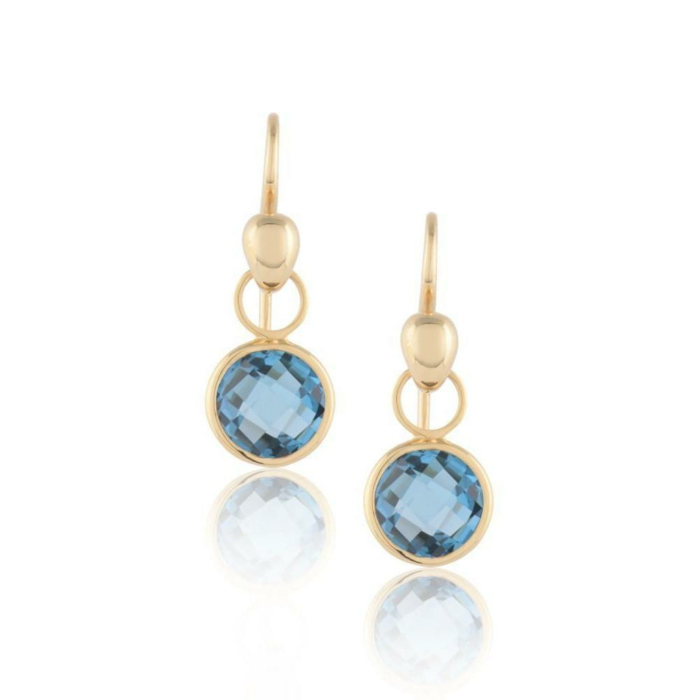 Lucy Blue Topaz Earrings