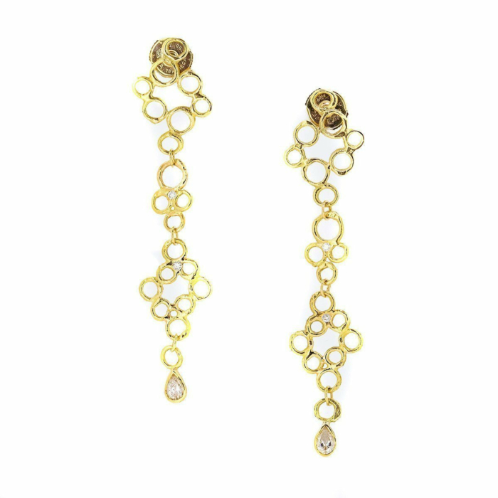 18kt Yellow Gold Bubble Drop Earrings