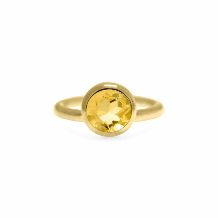 Solo Ring In Gold With Faceted Gemstone