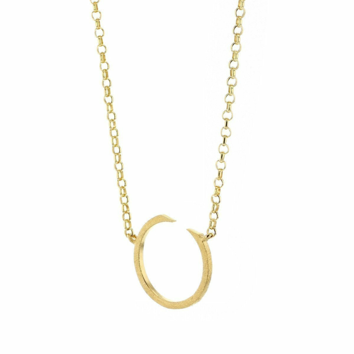 Circling Gold Plated Necklace Small