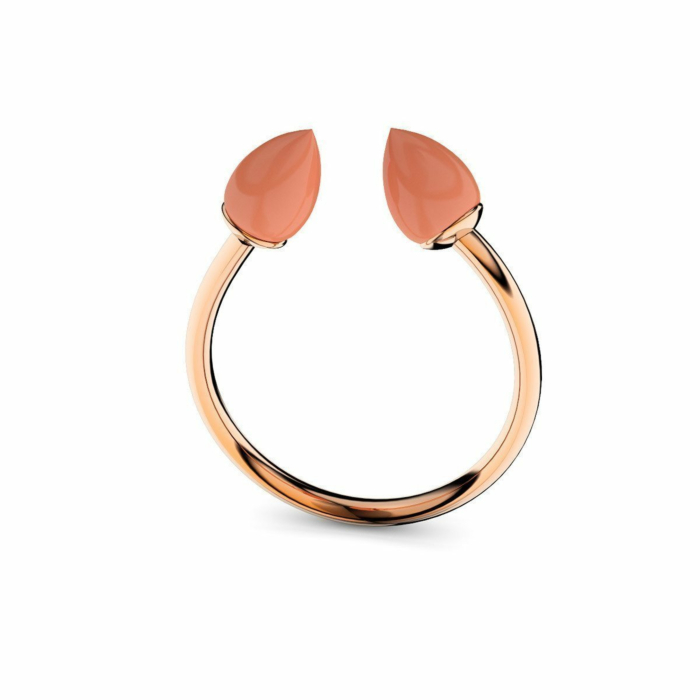 Rose Gold & Coral Ring