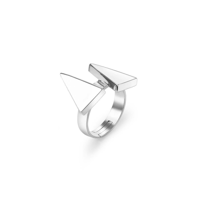 Sterling Silver Sun Triangle Ray Ring