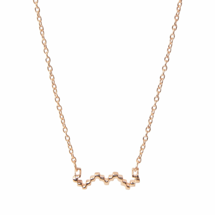 Baori Outline Necklace Rose Gold Vermeil