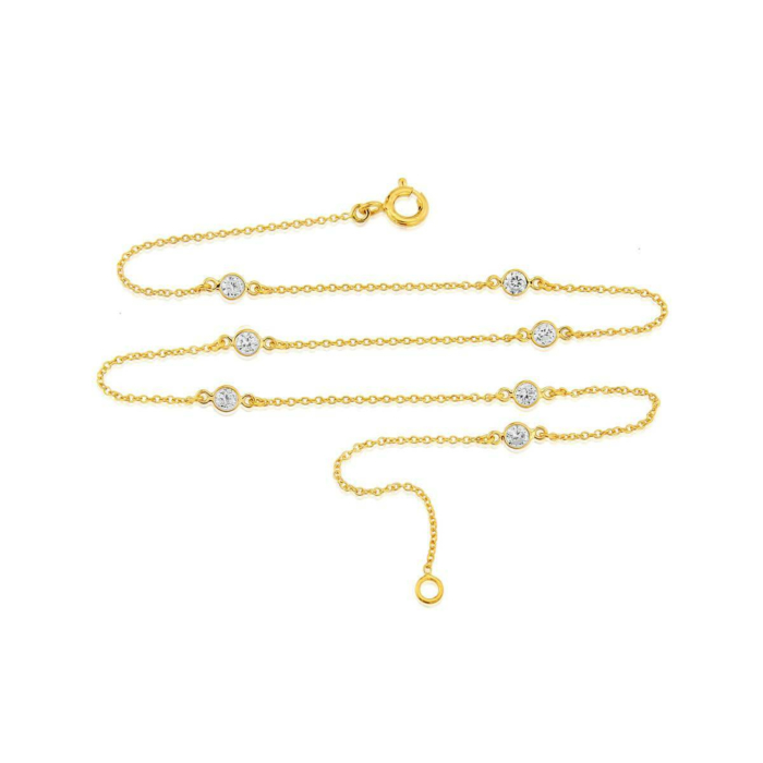 Yellow Gold Plated Sofia Short Necklace