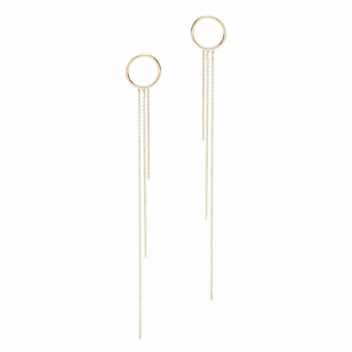 Foundation Disc Chain Drop Earrings