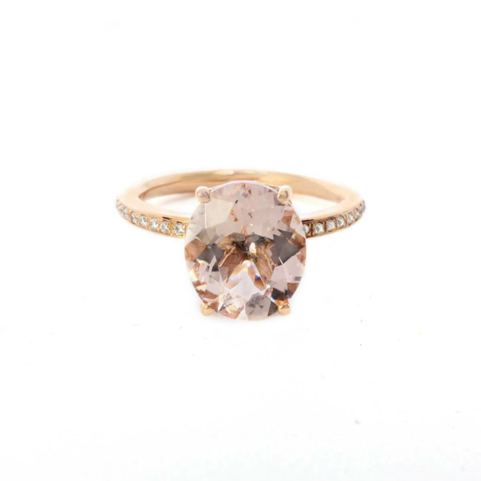 Oval Morganite Rose Gold Ring