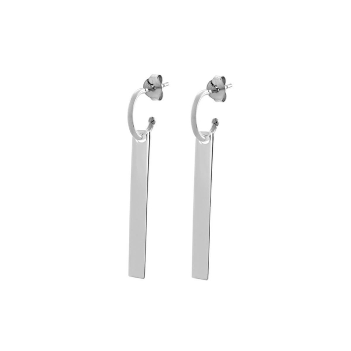 Sterling Silver The Line Hoop Earrings