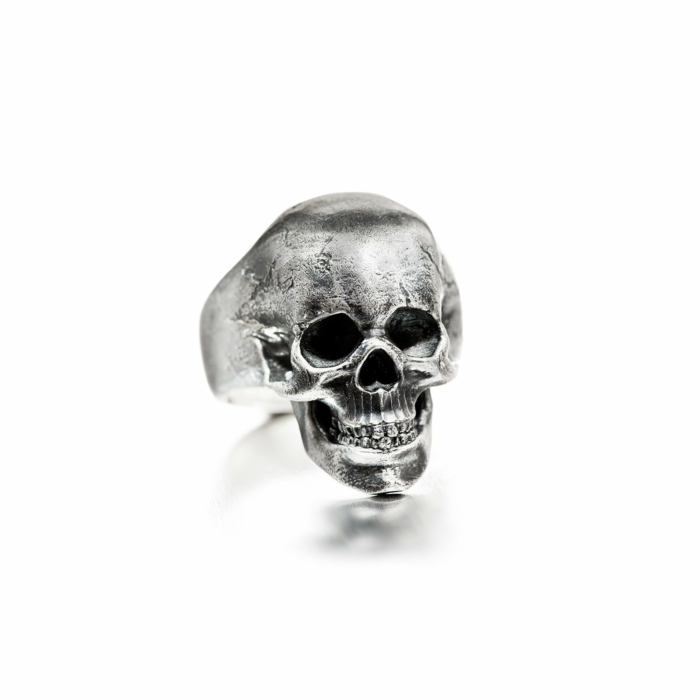 Sterling Silver Frank the Skull Ring