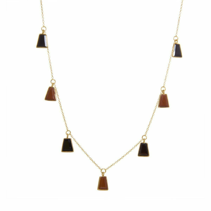 Inka Red Jasper and Black Onyx Necklace