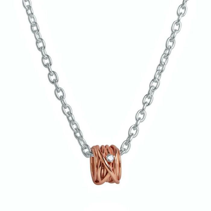 9kt Rose & White Gold Oro Rosa Mini Necklace