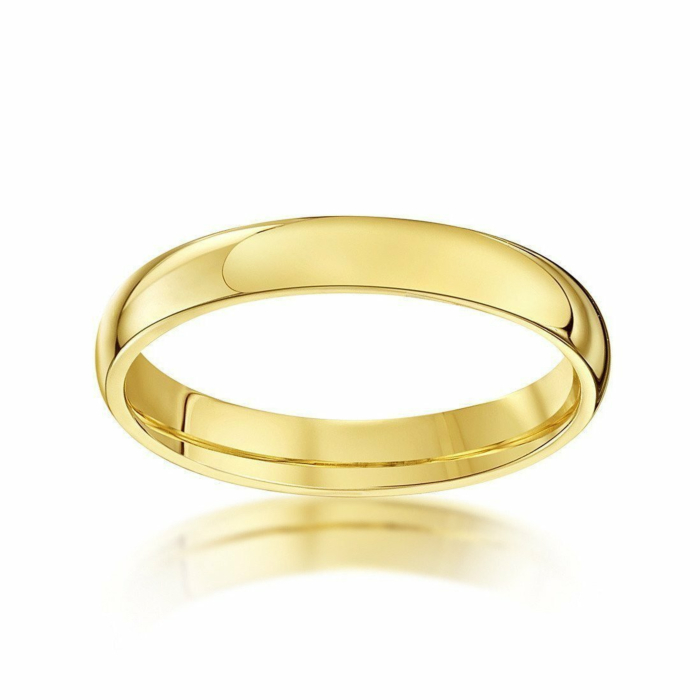 9kt Yellow Gold Extra Heavy Court-Shape Wedding Ring