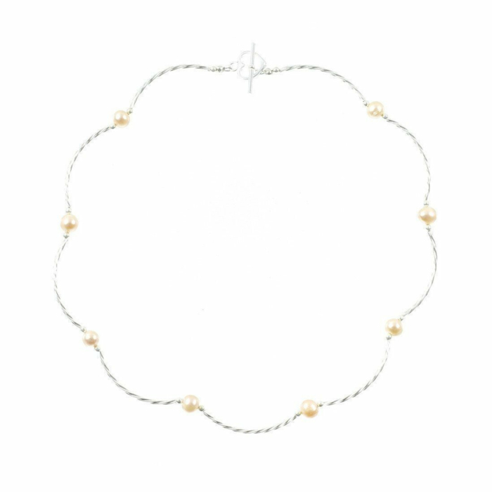Twist Champagne Pearl Necklace