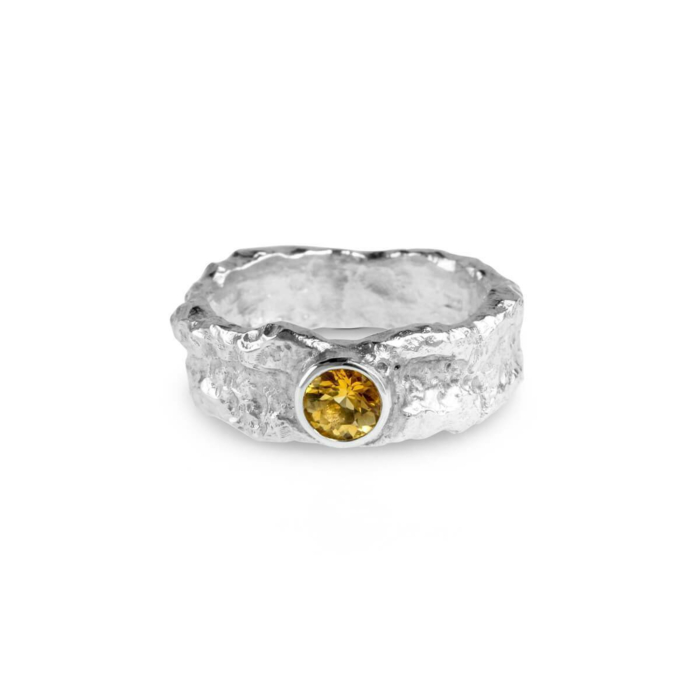Sterling Silver & Citrine Vero Ring | Paul Magen