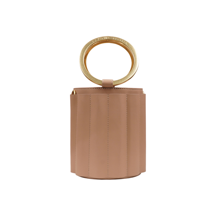 Water Metal Handle Small Bucket Bag